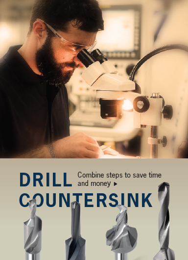 Drill countersink drill countersink saves time by performing two functions in one pass.