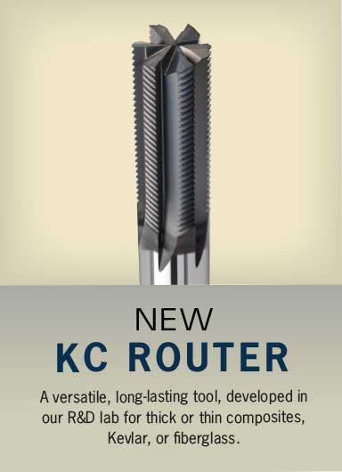 NEW KC Router. A versatile, Long-lasting tool for thick or thin composites, Kevlar, or fiberglass.