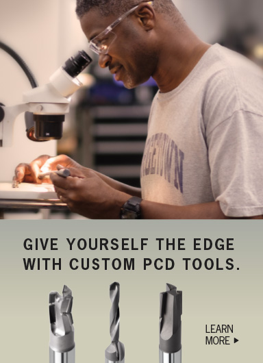 Give yourself the edge with custom cutting PCD tools.